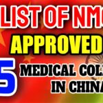 List Of NMC Approved 45 Medical Colleges in China